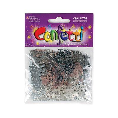 Confetti Bar Mitswa zilverkleur