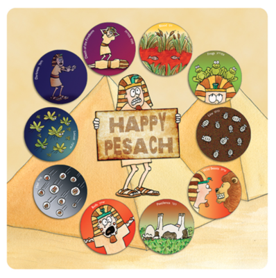 Pesach placemat 10 plagen