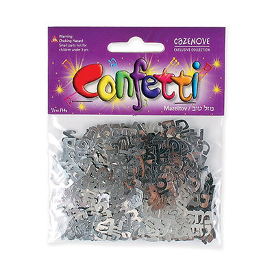 Silver coloured confetti Mazal Tov