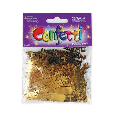 Confetti L'Chaim goudkleur