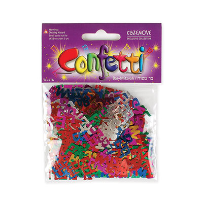 Confetti Bar Mitswa gekleurd