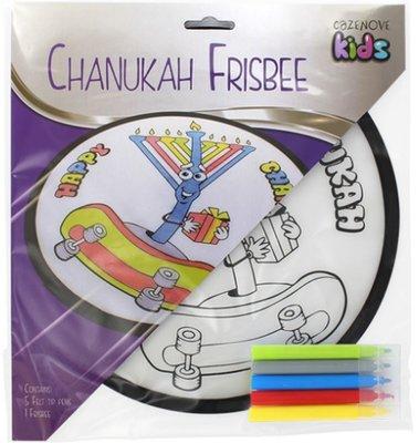 Chanoeka Frisbee kleurplaat