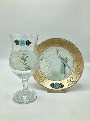 Glas en Schaal bruidspaar