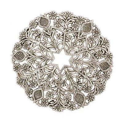 Onderzetter zilverkleurig