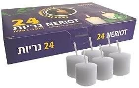 shabbat kaarsen navul 24 stuks brandtijd ca. 5 uur