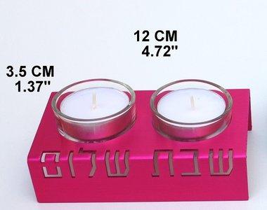 Kandelaar alu/Pink