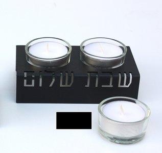 Kandelaar alu/zwart