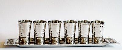 Cups 6 sm met Plate