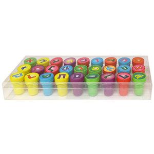 Stempels 27x Aleph-Bet plastic