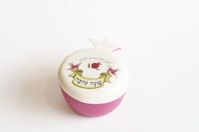 Ceramic set Apple&Pom Dvash dish spoon