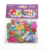 Coloured confetti Bat Mitzvah